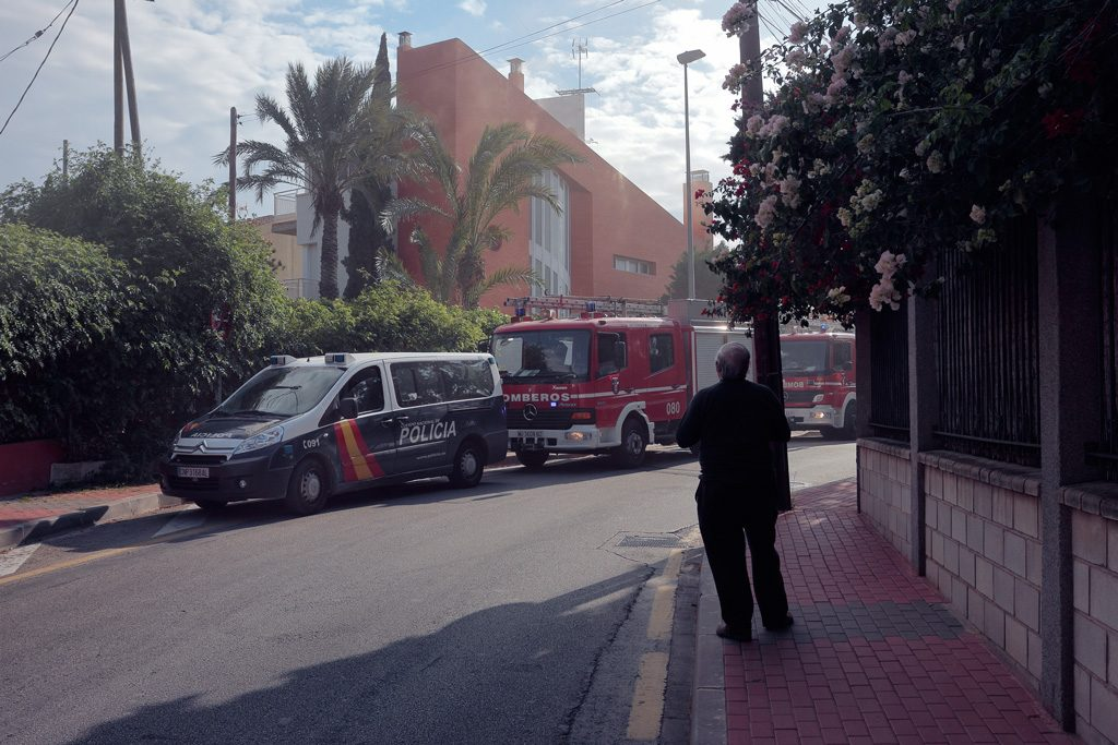 Bomberos en acción en Santo Ángel