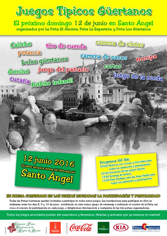 Cartel Juegos Típicos Huertanos peña el Alimrez