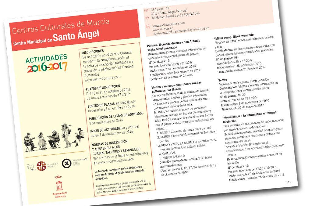 Cursos y talleres Centro Municipal Santo Ángel 2016 / 2017