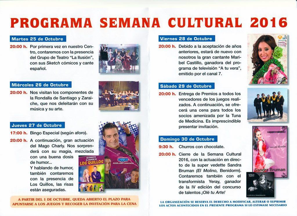 Semana Cultural 2016 Centro Mayores Santo Ángel