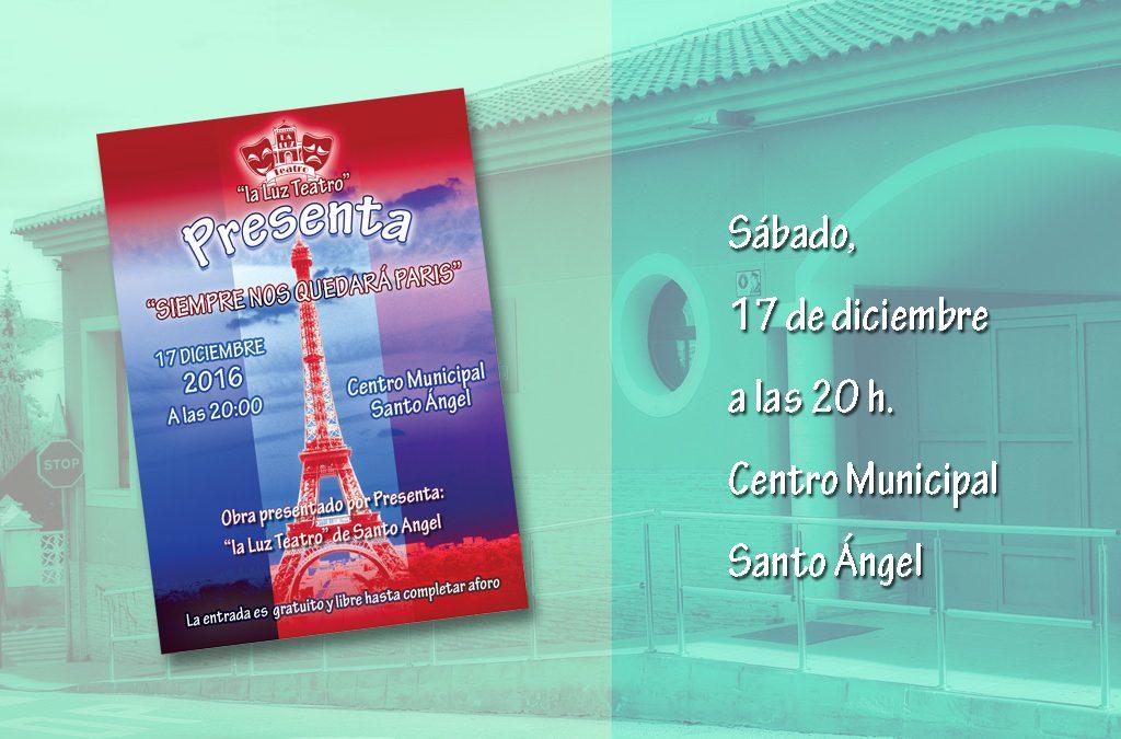 Obra de teatro: Siempre nos quedara Paris