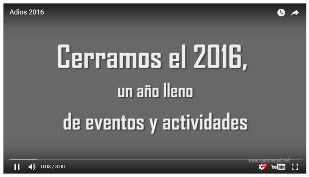 Adiós 2016, un año lleno de eventos y actividades