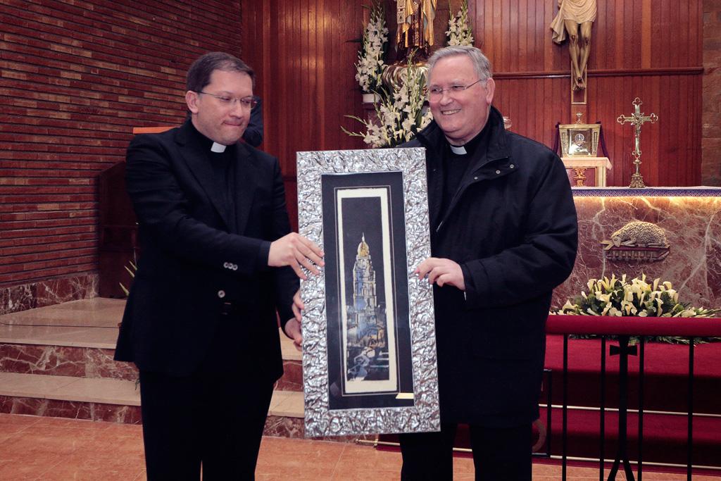 Obispo monseñor José Manuel Lorca Planes, D. Gines Amor Molina