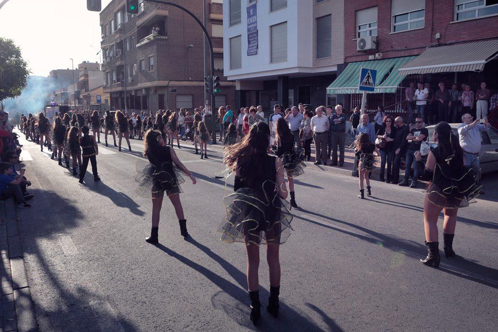 Desfile a la altura del Casino