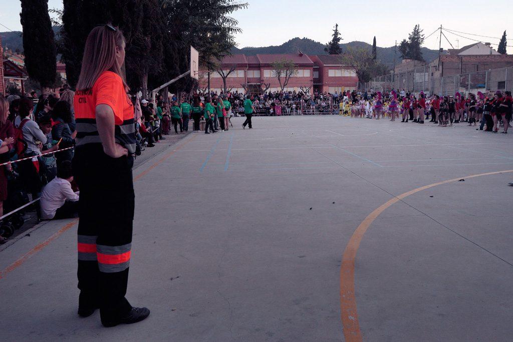 Final de concurso en la plaza del CEIP Santo Ángel