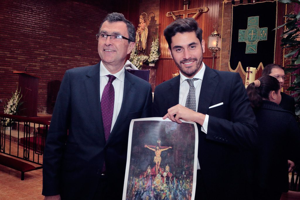D. José Francisco Ballesta German y el sevillano Sergio Díaz