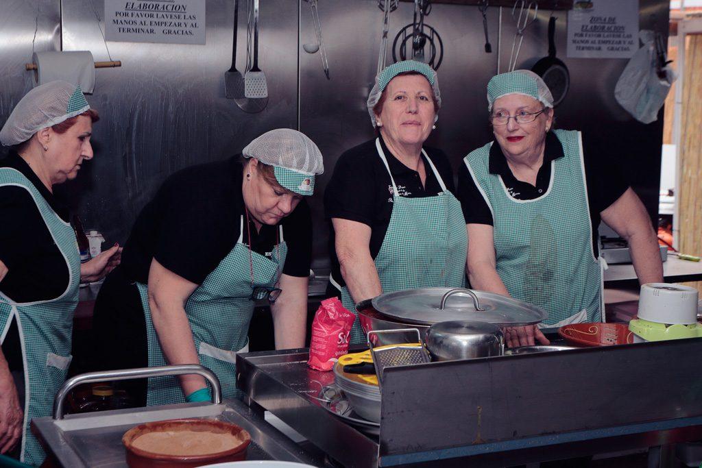 La cocina de la baraca de la Peña el Almirez