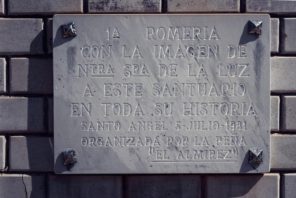"""Placa Romería Peña Huerta """"El Almirez"""" en 1981"""