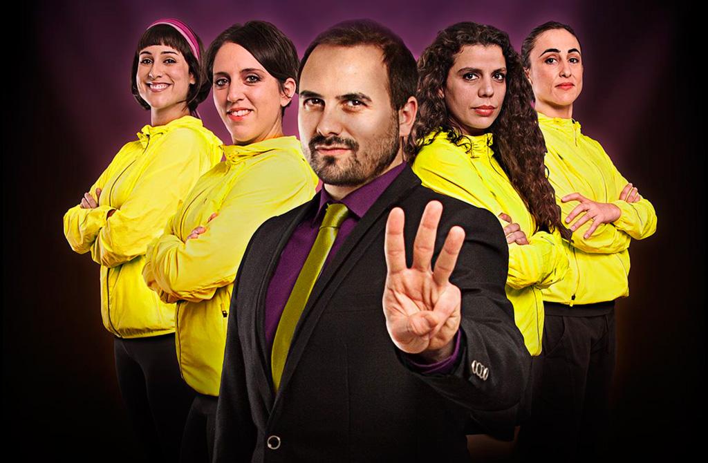 """Grupo """"Teatro de la entrega"""" con la obra 3000 Km"""