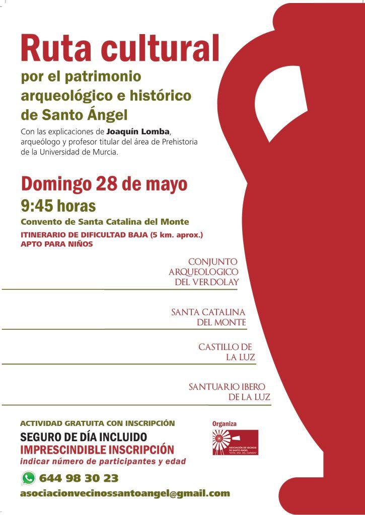 Cartel ruta patrimonio Santo Ángel