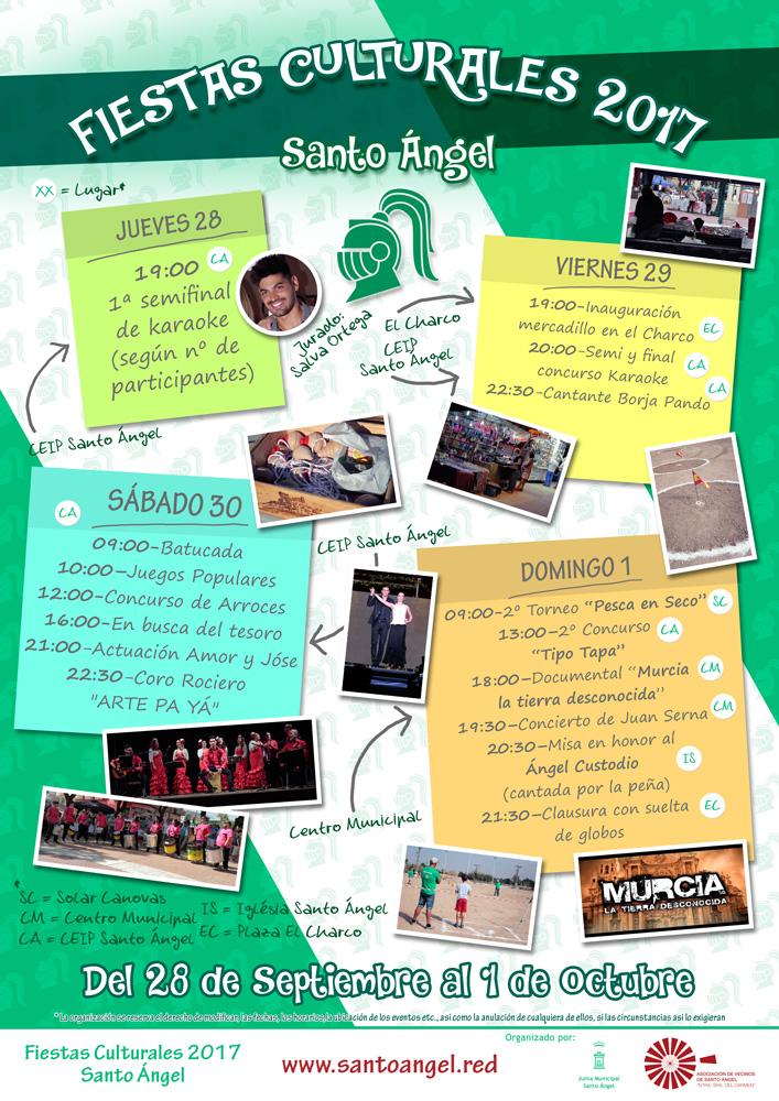 Cartel Fiestas Culturales 2017