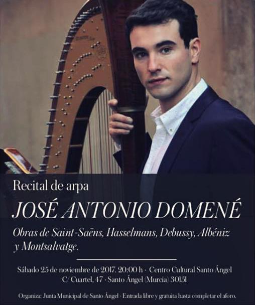 Cartel concierto Arpa José Antonio Domené