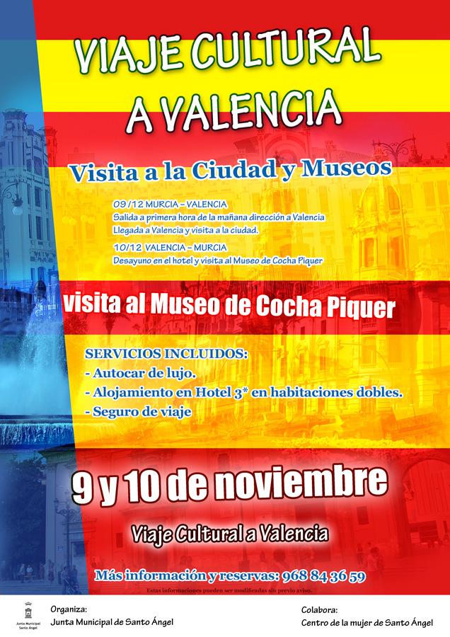 cartel viaje a Valencia Junta Municipal