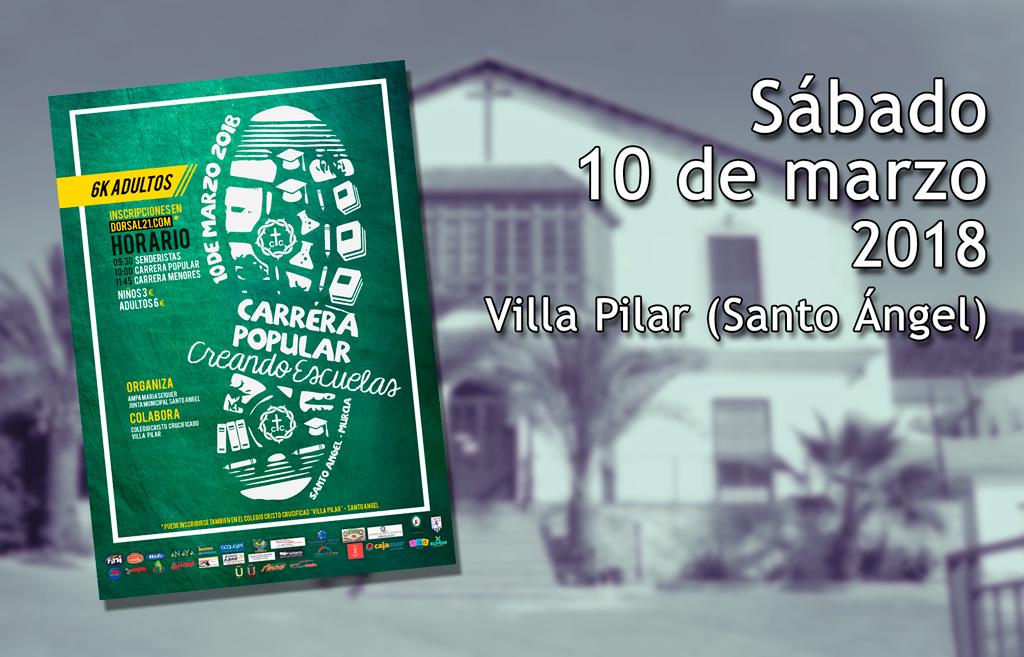 Villa Pilar cartel Carrera 2018