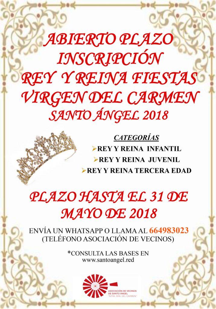 Cartel concurso de Reinas y Reyes 2018