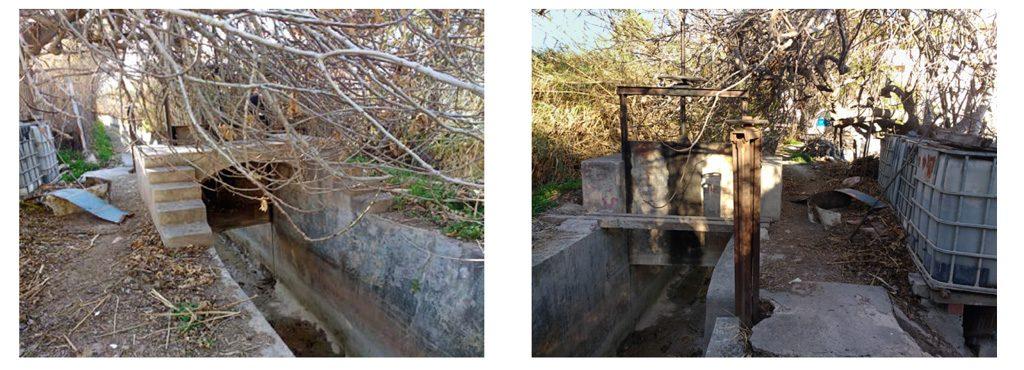 fotografías 1 y 2 acequia de Beniaján