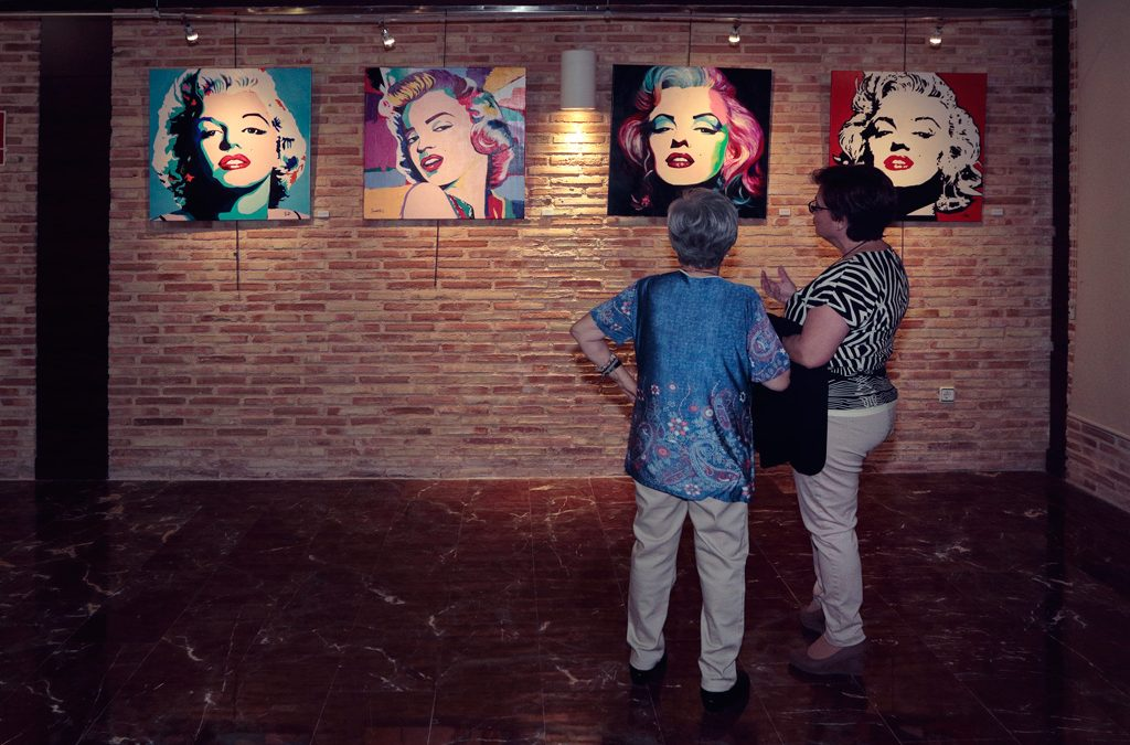Exposición de pinturas Marilyn Monroe