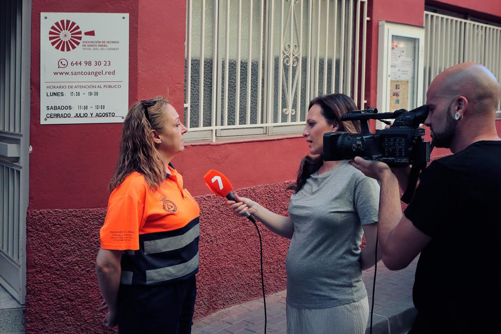 Entrevista carrera de motos en Santo Ángel