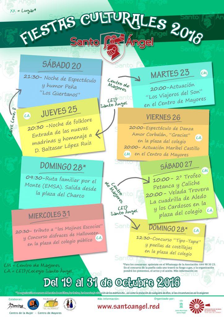 Cartel Fiestas Culturales 2018