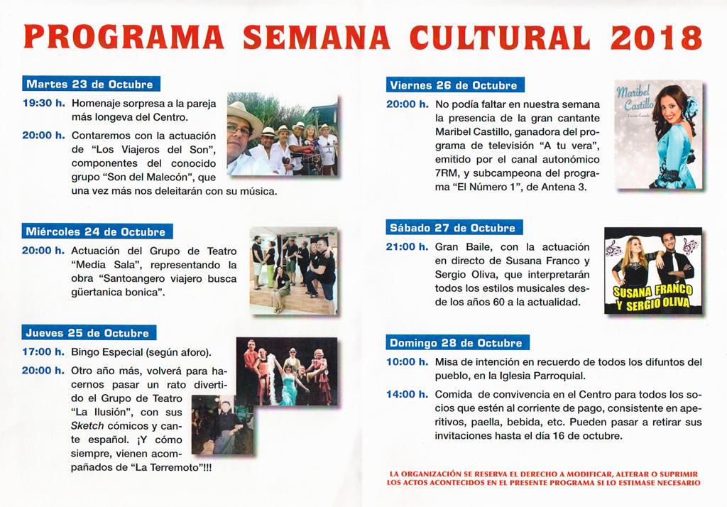 Programa Cultural Mayores 2018