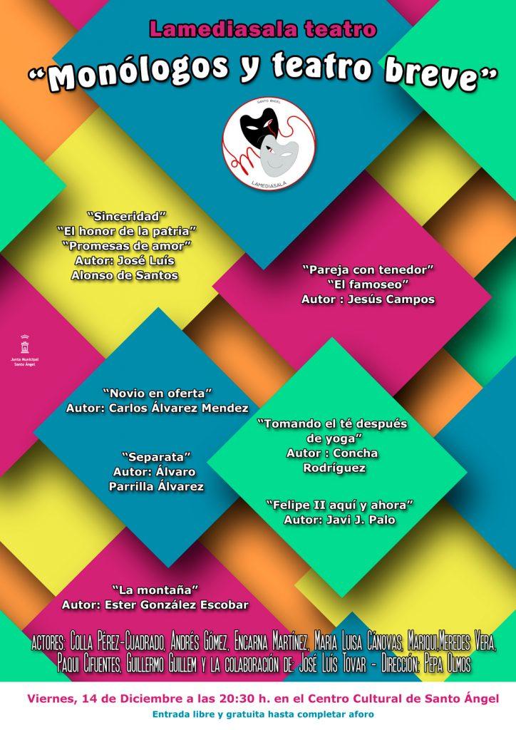 Cartel monólogos y teatro breve Lamediasala teatro