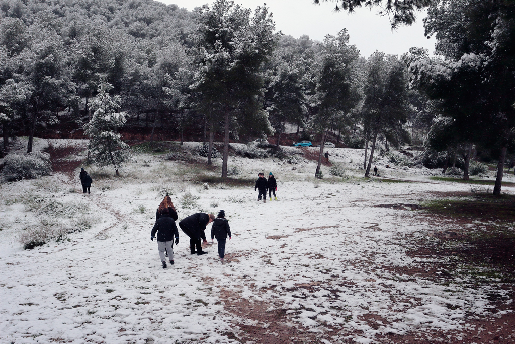 Monteliso en Santo Ángel nevado