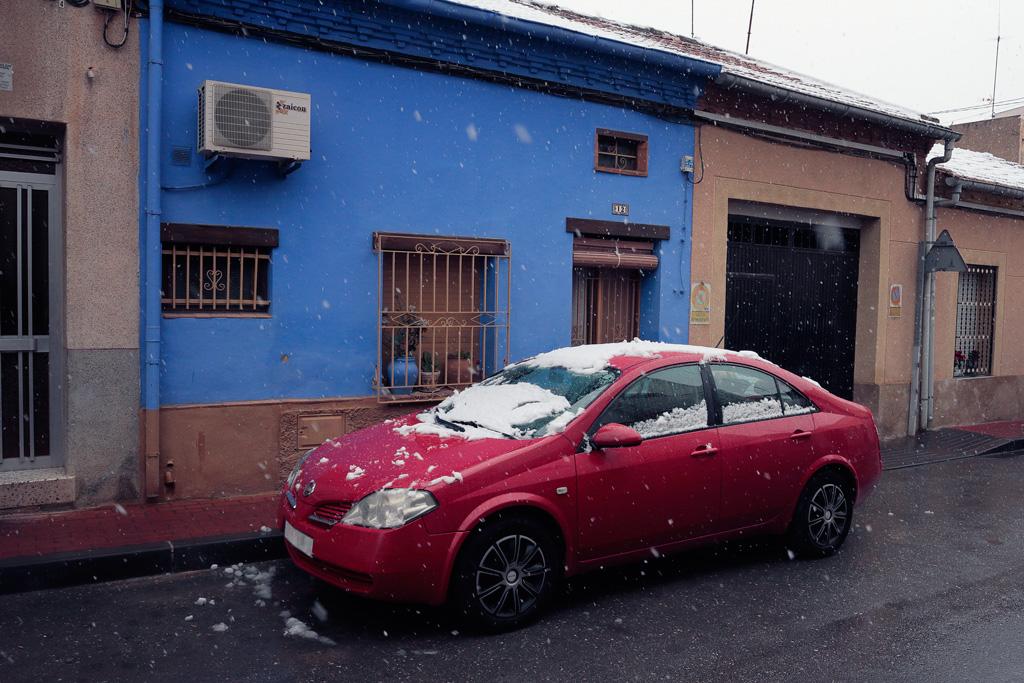 Casa Azul en la calle del cuartel