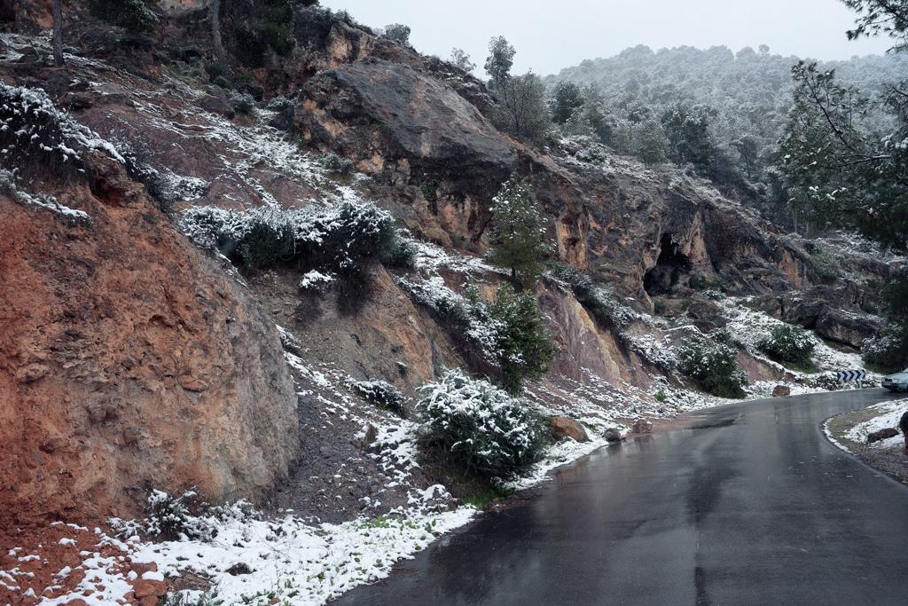 Calle del Pino con nieve