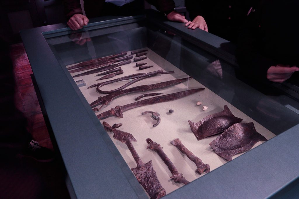 exhibición colección arqueológica