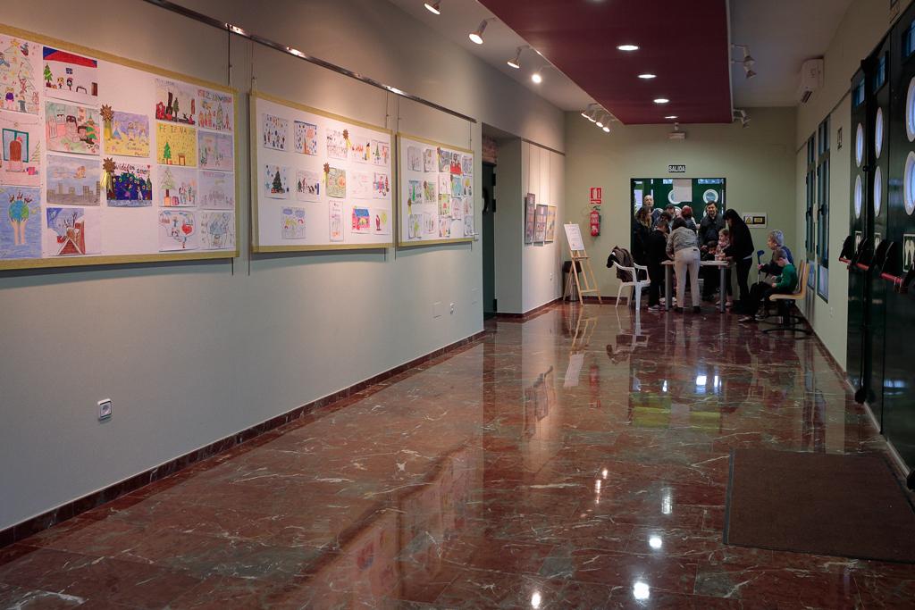 Inauguración exposición postales de navidad