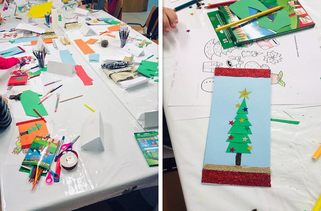 Fotografías taller de decoración navideña