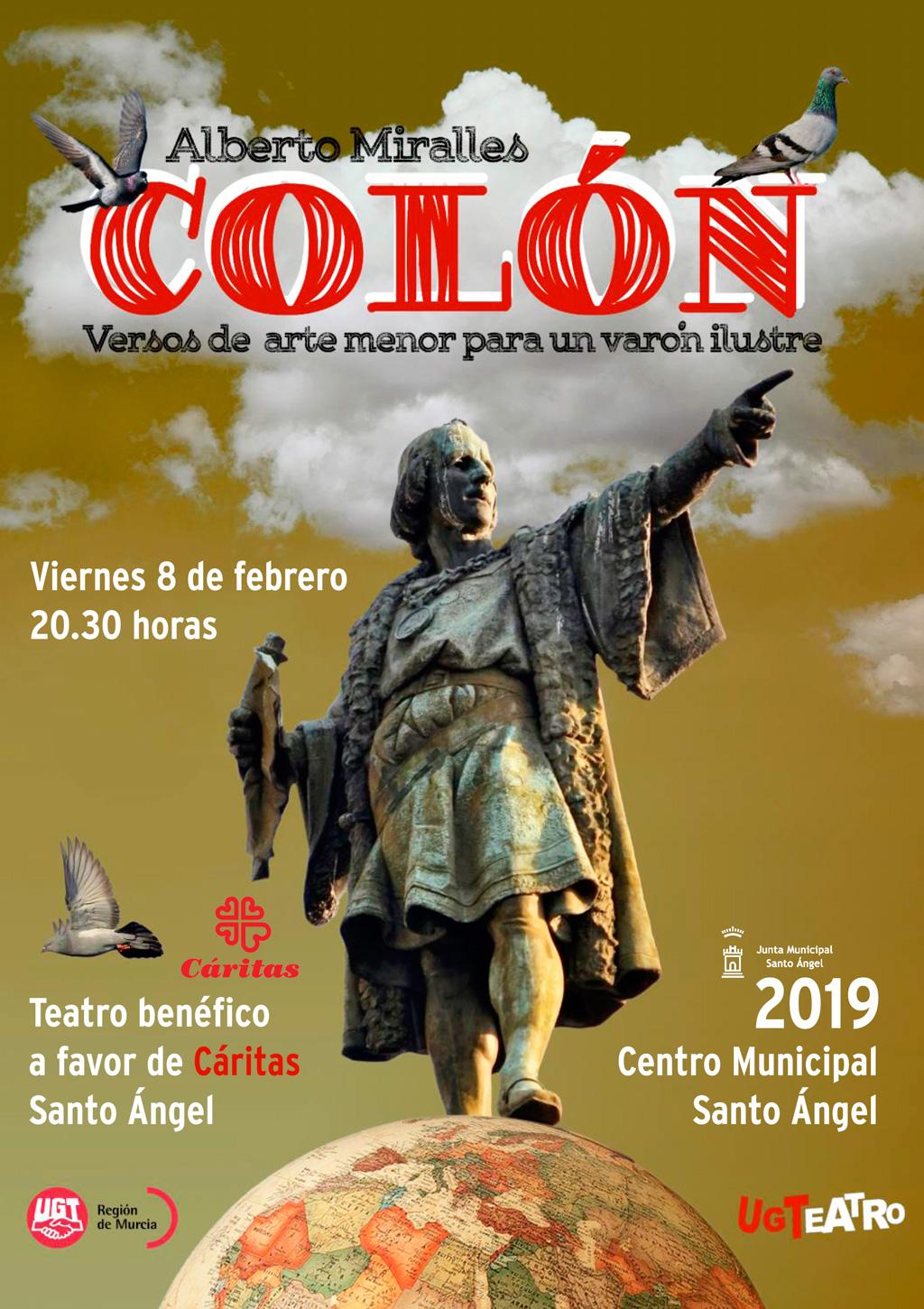 Cartel UGT Teatro obra Colón