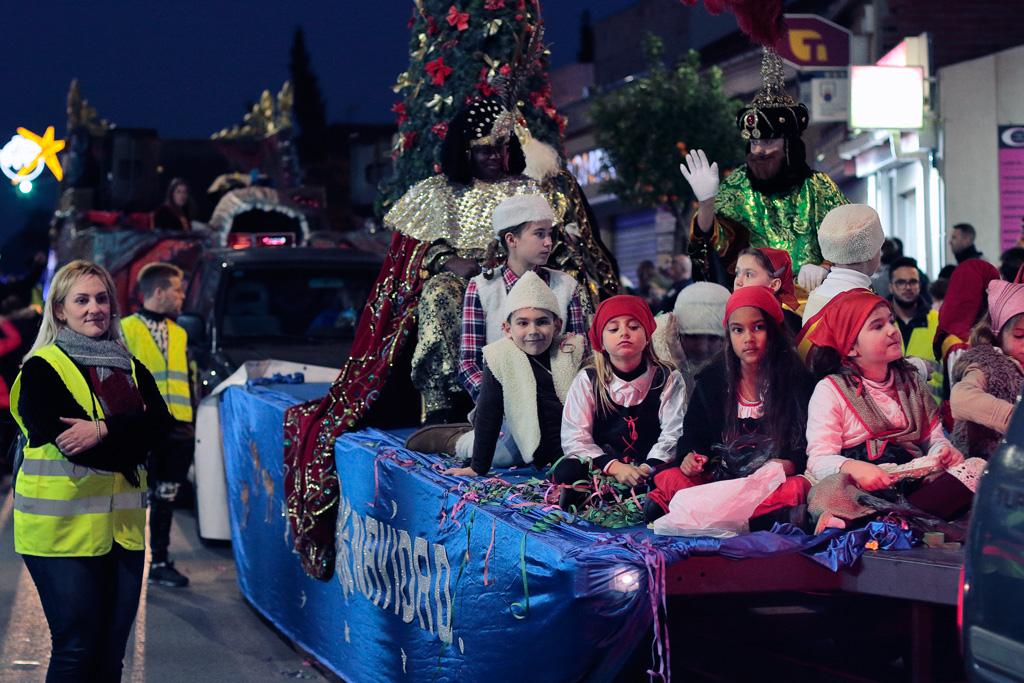 La carroza con los Reyes Magos
