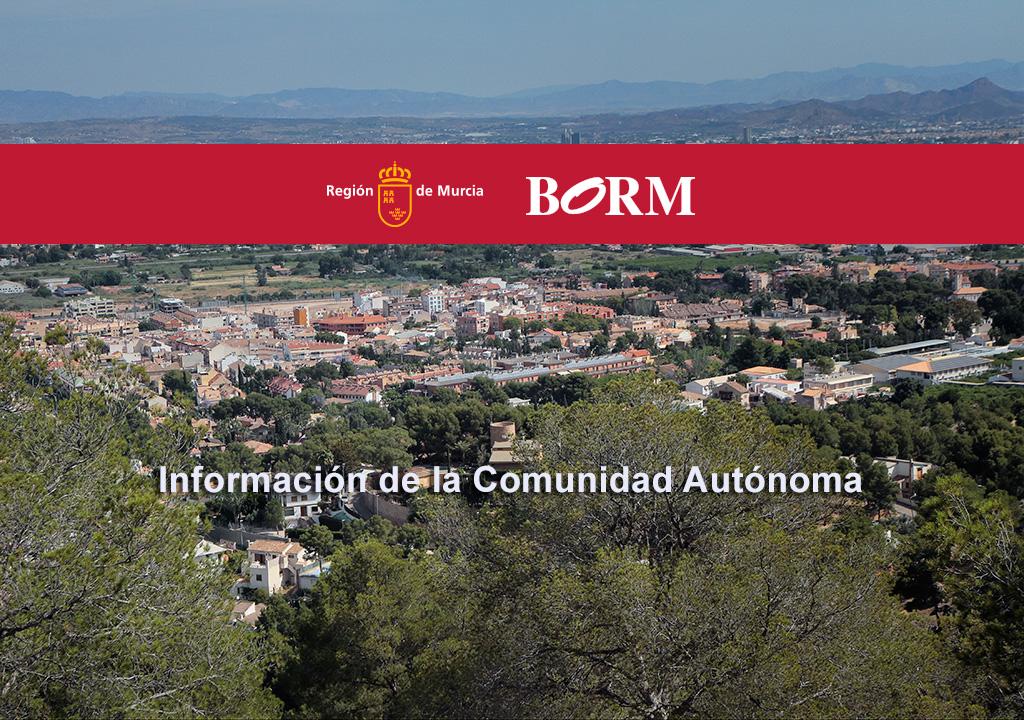BORM Región de Murcia, ayudas de la Comunidad Autónoma
