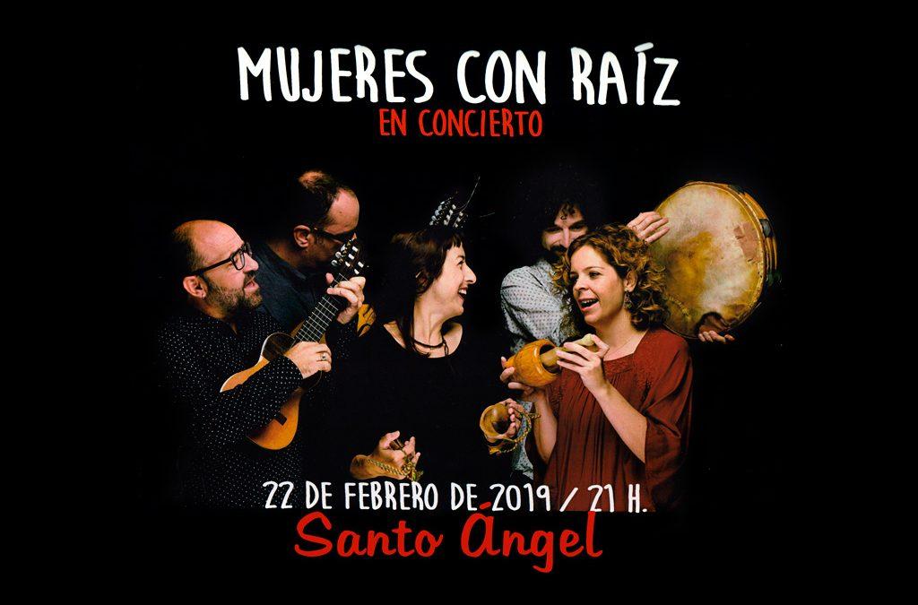 """""""Mujeres con raíz"""" en concierto en Santo Ángel"""