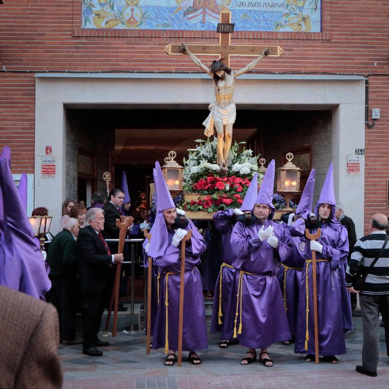 La procesión de la Semana Santo