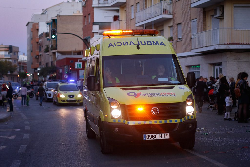 Ambulancia desfile Carnaval