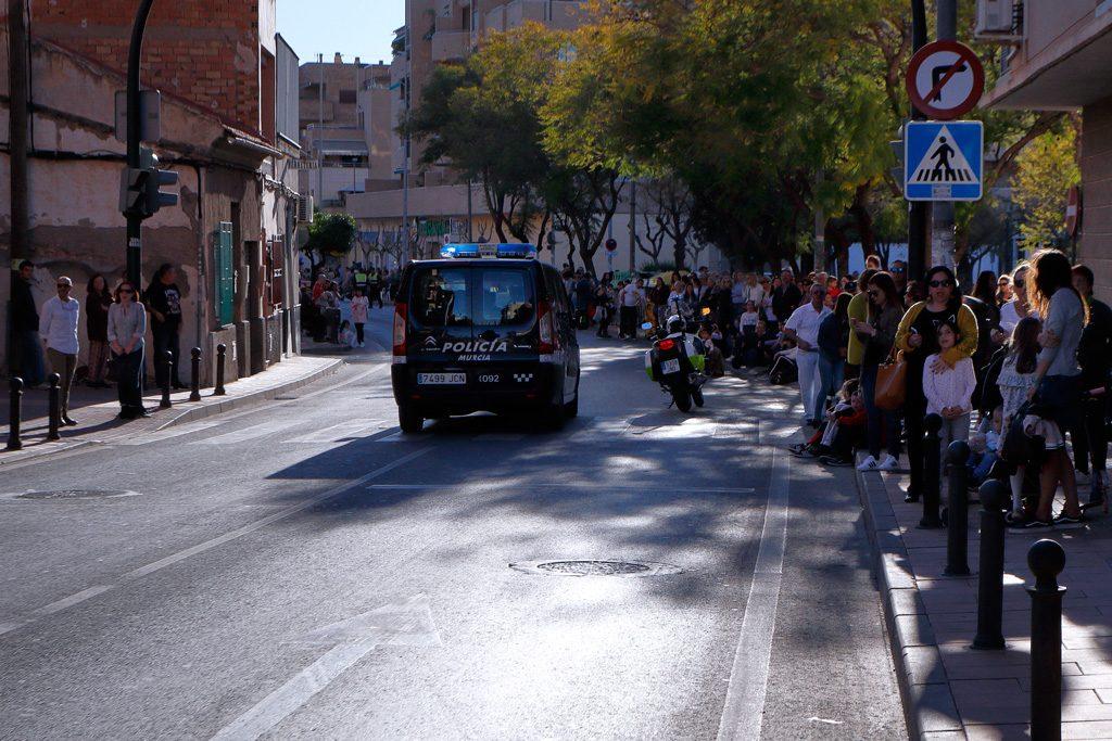 Carnaval 2019 Policía abriendo el desfile