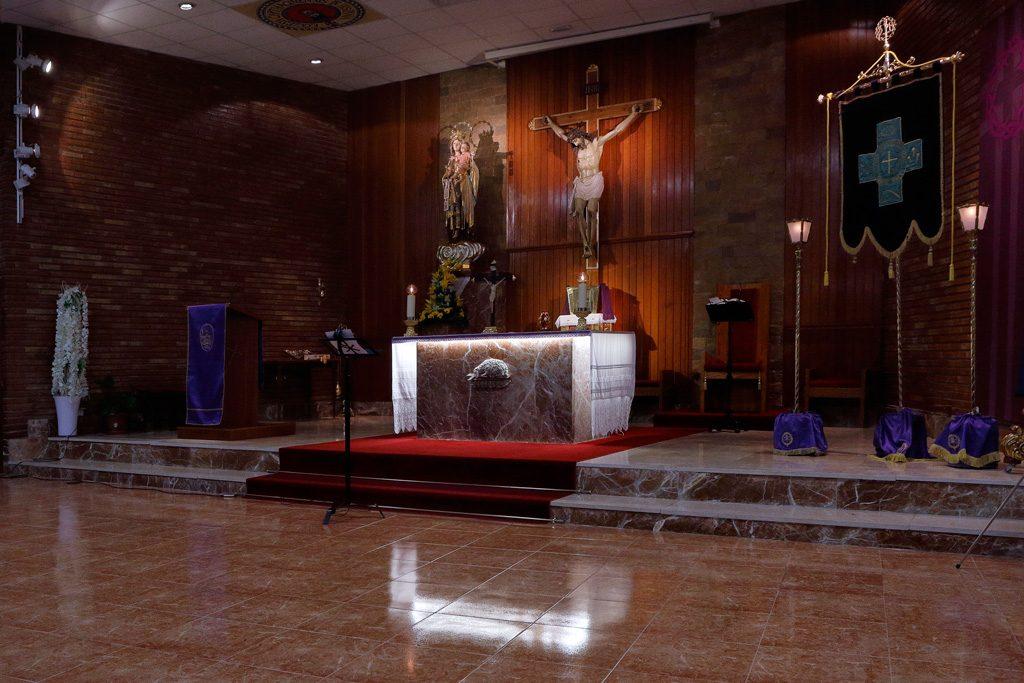Interior de la Iglesia de Santo Ángel