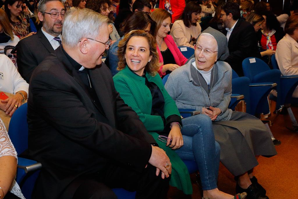 Con el obispo José Manuel Lorca Planes