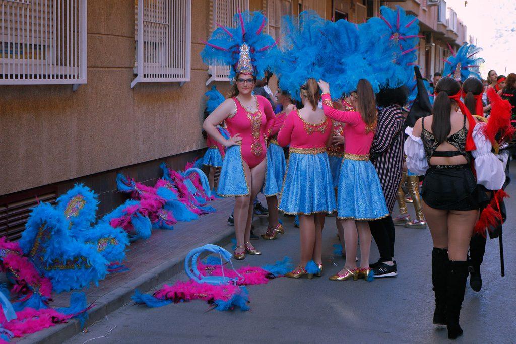 preparación desfile de carnaval 2019