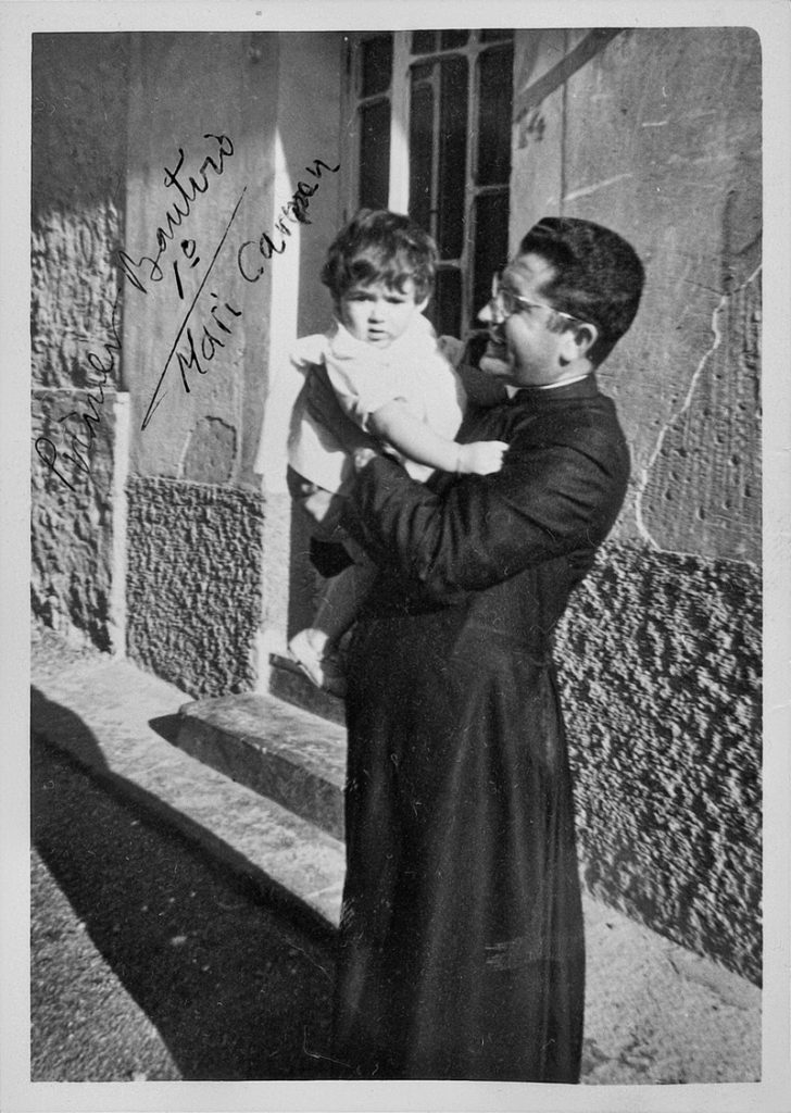primer bautizo en la parroquia