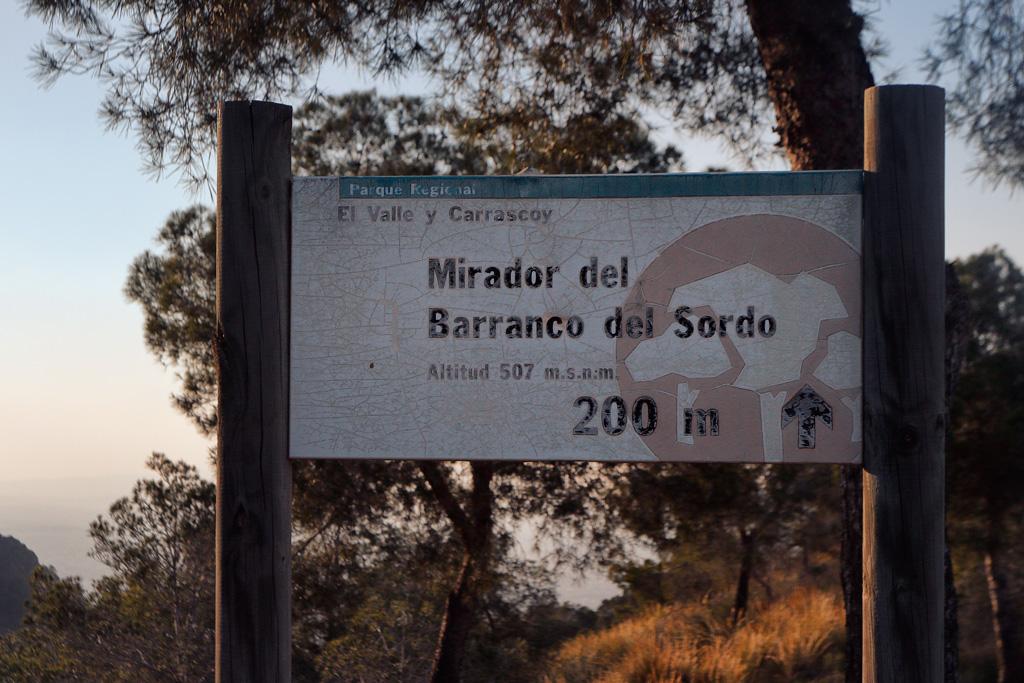 Mirador del Barranco del Sordo