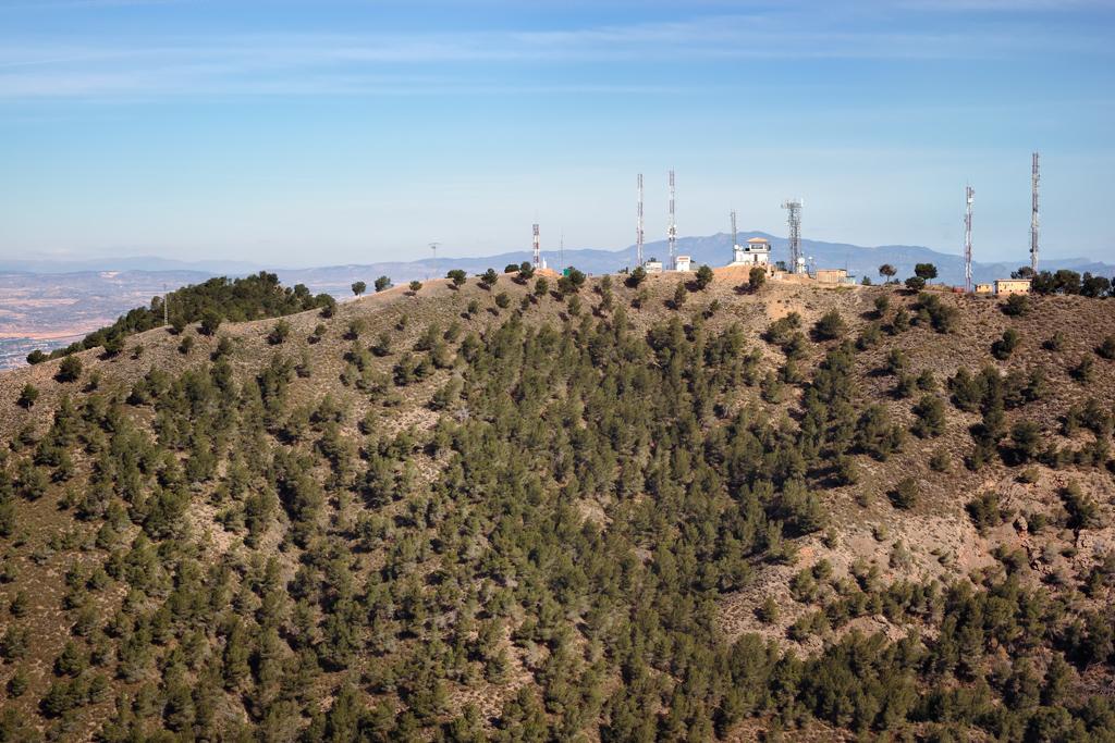 Pico del Relojero en el Valle Carrascoy