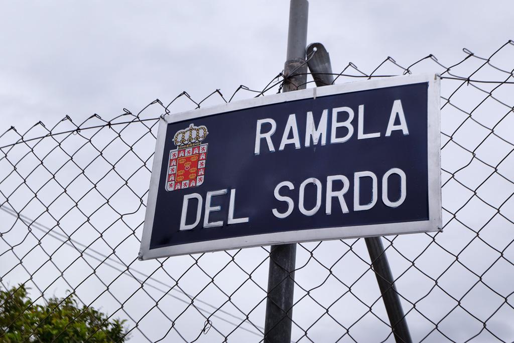 Placa Rambla del Sordo altura calle Tejo