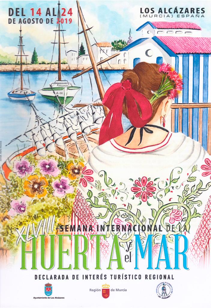 Cartel Pepe Franco Semana Internacional de la huerta y el mar los Alcázares 2019