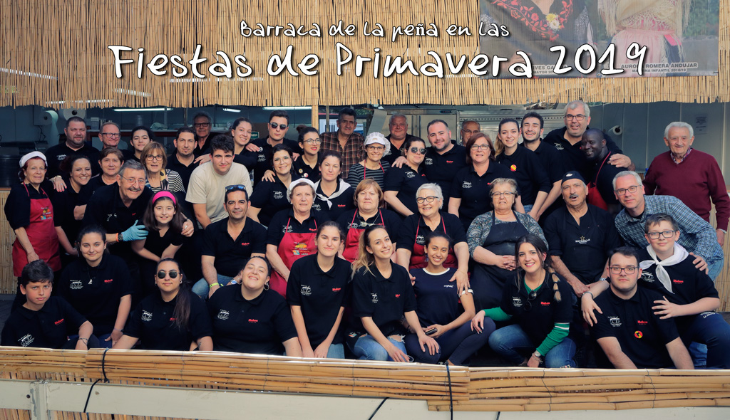 """Equipo de la peña """"El Almirez"""" en las fiestas de primavera en Murcia 2019"""