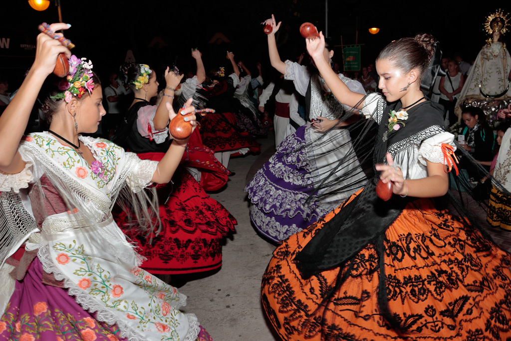 """Traditional dancers at the """"Lady of the light"""" Pilgrimage week."""