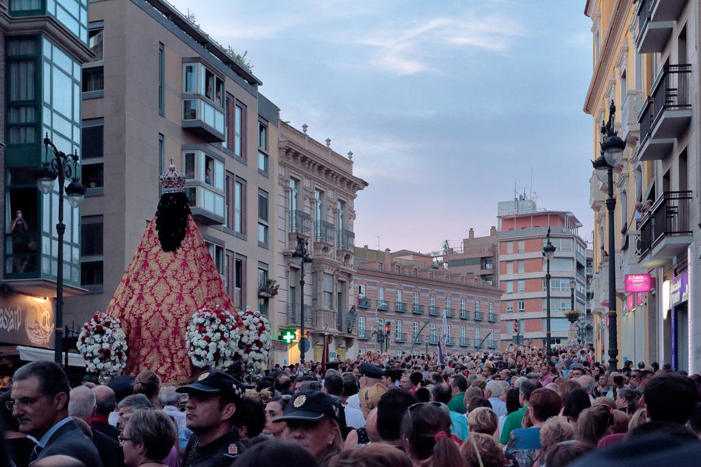 La Virgen de la Fuensanta en las calles de Murcia