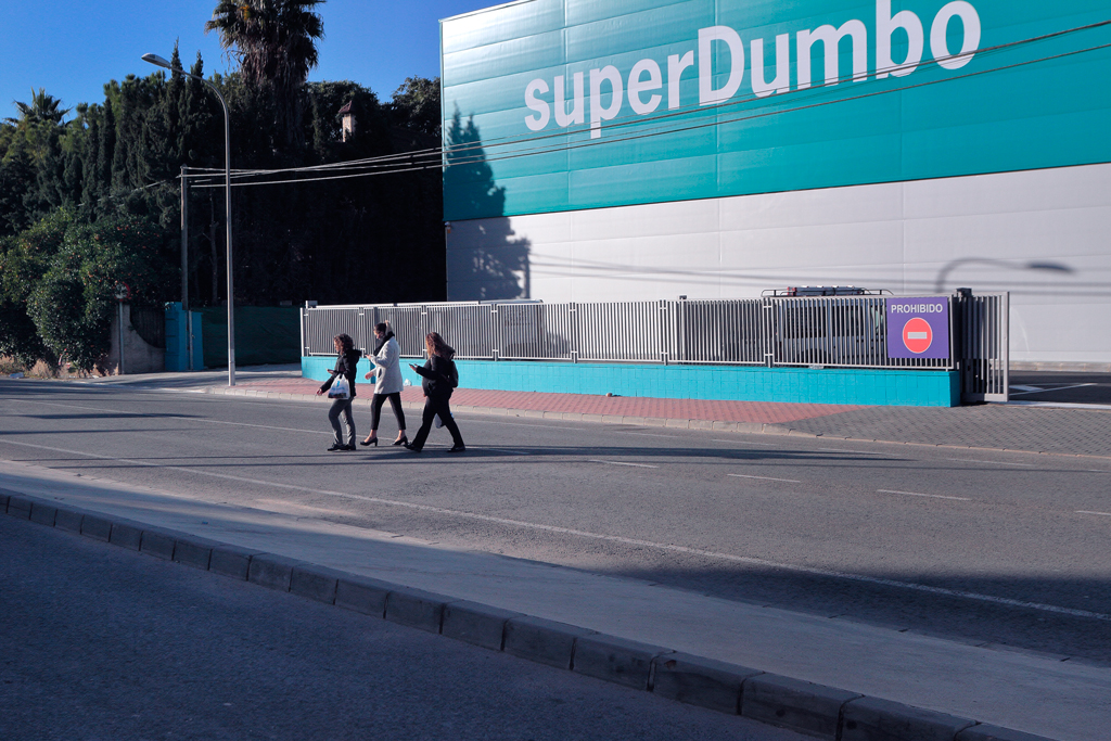 Cruce peatones SuperDumbo peligroso